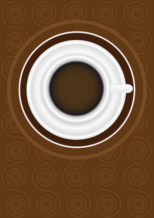 expresso: Menu Card Design - Menu Sign on Coffee Cup and Pattern in Shades of Brown Illustration
