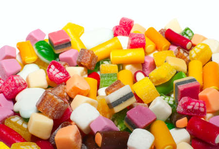 Background made of assortment of colorful candy