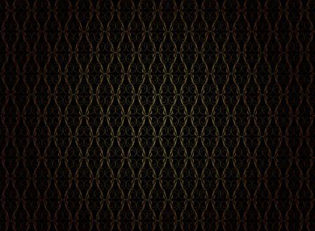 古美術品: ビンテージ壁紙 - 黒の背景に金色の装飾品