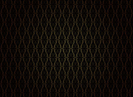 antique wallpaper: Vintage Wallpaper - Golden Ornaments on Black Background