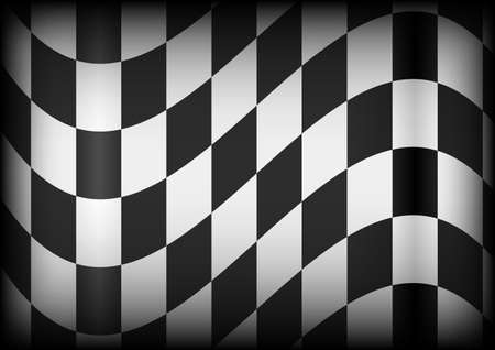 Background - Black and White Checkered Race Flag Vector