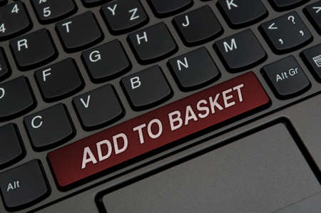 Detail of Notebook Keyboard  With Add to Basket Sign photo