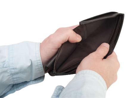 empty wallet: Closeup of Man