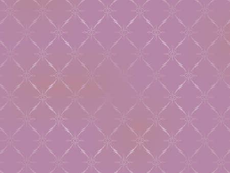 Vintage Wallpaper - ornements sur fond rose clair