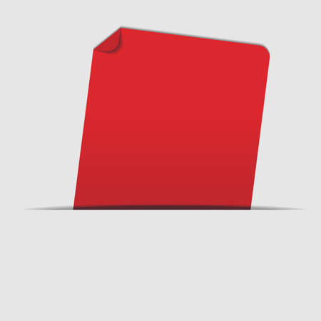 Abstract Background - Red Label on Light Grey Background Vector