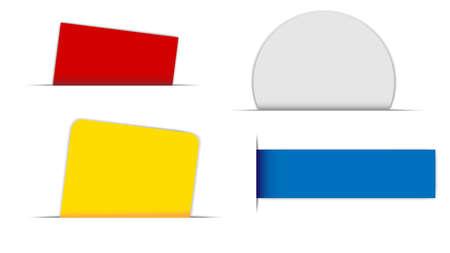 autocollant: Collection d'�tiquettes de diff�rentes formes sur fond blanc Illustration
