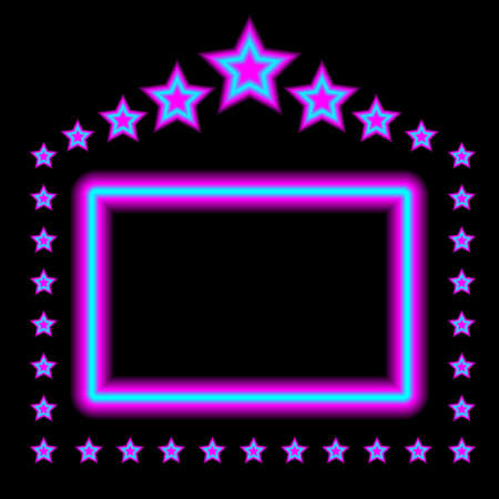 star border: Abstract Background - Glowing Frame on Black Background