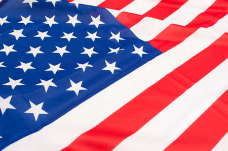 Detail of Silky National Flag of United States of America - USA Flag Drapery photo