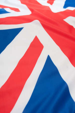 Detail of Silky National Flag of Great Britain Flag Drapery - Shallow Depth of Field Stock Photo - 10941426