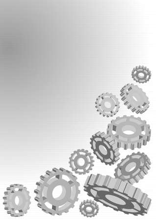 Abstract Background - Illustration of Cogwheels on Light Background Stock Vector - 10988523
