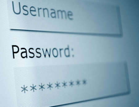 Login - Username and Password in Internet Browser on Computer Screen Stock Photo - 10988560