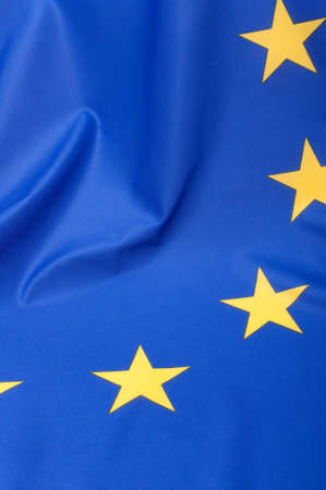 Closeup of Glossy Flag of European Union - EU Flag Drapery Stock Photo - 11320890