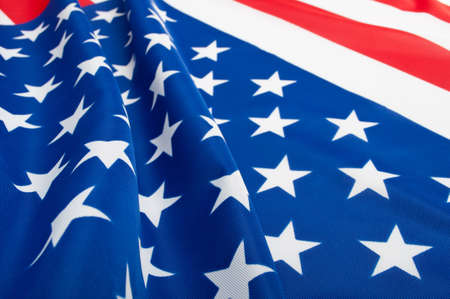 Closeup of Glossy Flag of United States of America - USA Flag Drapery photo