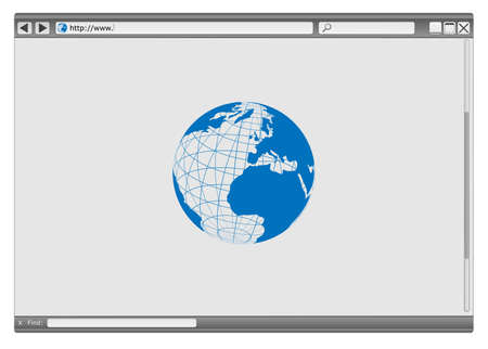 Blank Modern Internet Web Browser With Copyspace Vector