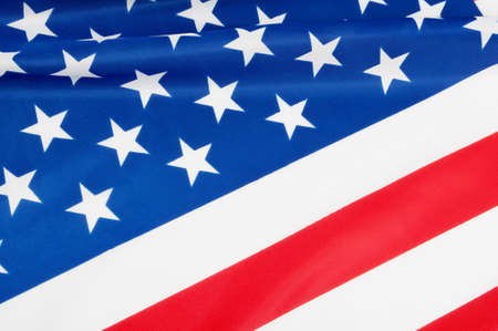 Closeup of Glossy Flag of United States of America - US Flag Drapery photo