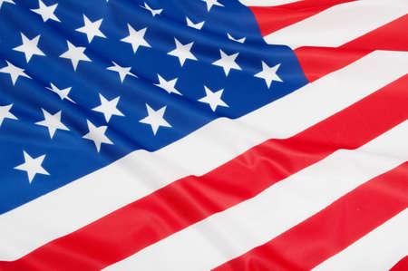 Closeup of Glossy Flag of United States of America - US Flag Drapery photo