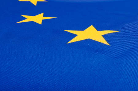 Closeup of Glossy Flag of European Union - EU Flag Drapery Stock Photo - 11633724