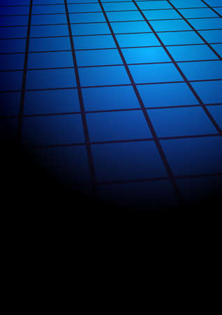Abstract Background - Blue Tiles on Black Background Vector