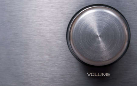 Detail of Metallic Volume Knob - With Copyspace photo