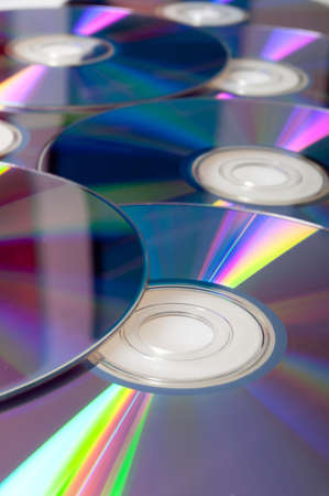 Background of Many Shiny CD Compact Disc photo
