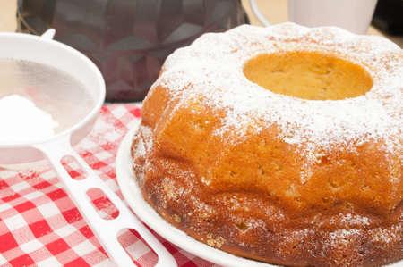 Baking of Gugelhupf  - Preparation of Traditional Round Sponge Cake Stock Photo - 13234907
