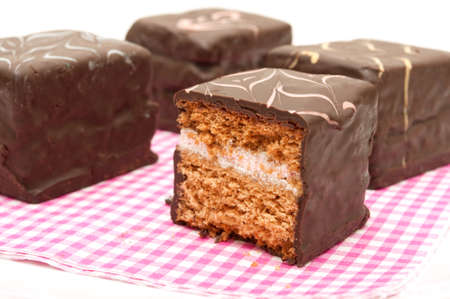 coated: Chocolate Coated Gingerbread Cake With Cream