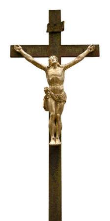 catholic symbols: A Statue of Jesus Christ Isolated on White Background