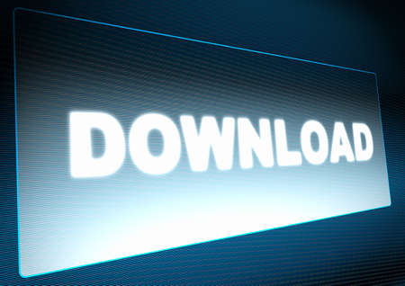 Download Button on Screen of Monitor - Illustration Stock Illustration - 13762174
