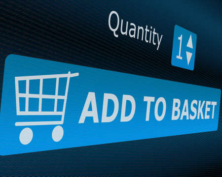 Online Shopping - Add To Basket Button Stock Photo - 13927079