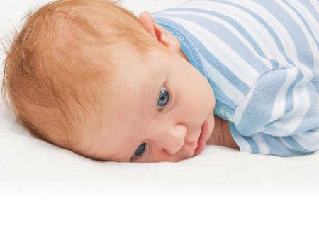 Newborn Baby With Open Eyes Stock Photo - 14088057