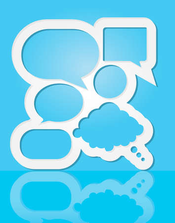 Abstract Design - Speech Bubbles on Blue Background Vector