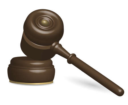 Illustration of Judge Gavel Isolated on White Stock Vector - 14157690