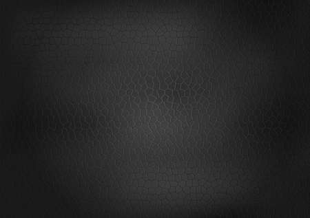Black Leather Texture Background Vector