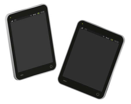 fictitious: Illustration of Fictitious PC Tablet Isolated on White