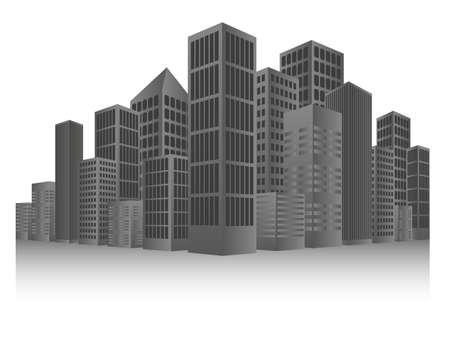 небоскребы: Серый Городской фон
