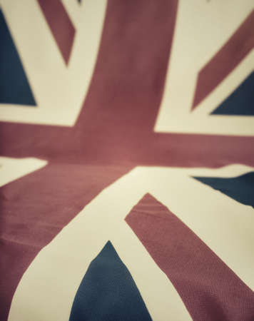 britain flag: Flag of Great Britain - UK Flag Drapery - Shallow Depth of Field