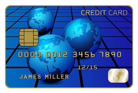 fictitious: Illustration of Credit Card Isolated on White Illustration