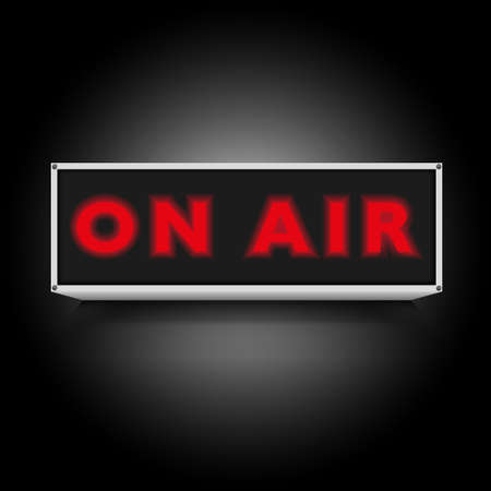 On Air Sign on Black Background Vector