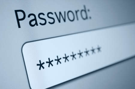 Closeup of Password Box in Internet Browser Stock Photo - 18221734