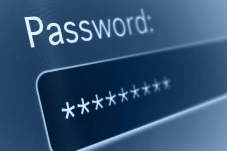 Closeup of Password Box in Internet Browser Stock Photo - 18285230