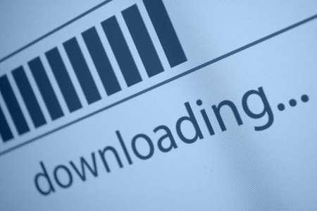 Closeup of Download Process Bar on LCD Screen Stock Photo - 18285236