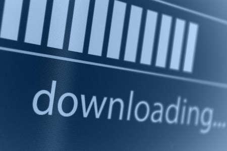 Closeup of Download Process Bar on LCD Screen Stock Photo - 18285234