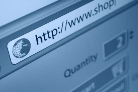 Online Shopping - Fictitious online shop url in address bar of web browser Stock Photo - 18440281