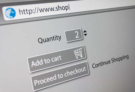 Online Shopping -  url of fictitious online shop in address bar of web browser Stock Photo - 21694611