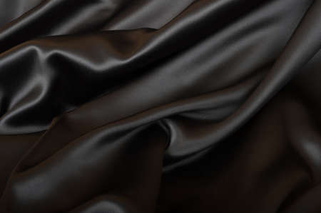 Black Texture - Dark Wavy Glossy Silk Drapery  photo