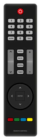 tv remote: Illustration of TV Remote Control Isolated on White Background Illustration