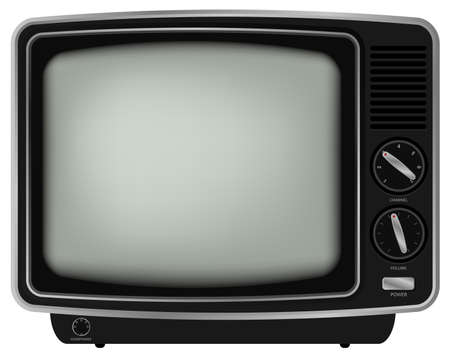 old tv: Retro TV - Illustration of Old Television Isolated on White Background