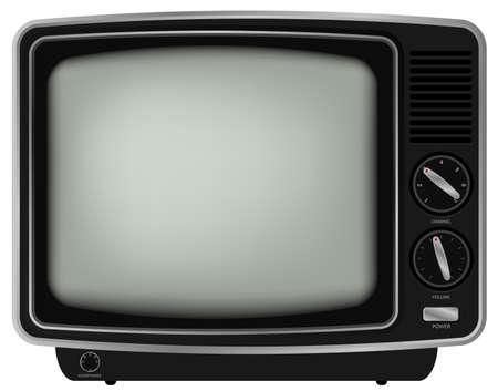 Retro TV - Illustration de la vieille télévision isolé sur fond blanc