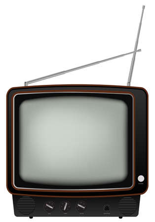 old television: Retro TV - Illustration of Old Television Isolated on White Background