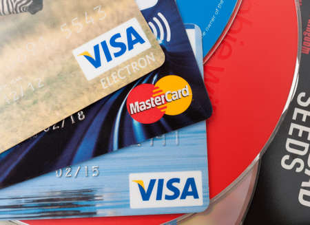 VISA and MasterCard credit cards on CD Compact Discs